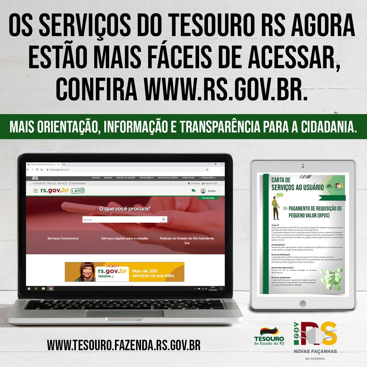 imagem com informações sobre os serviços