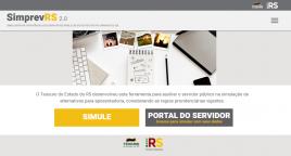 reprodução da página do simulador SimprevRS 2.0