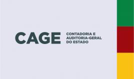Arte gráfica contendo os dizeres ''CAGE''