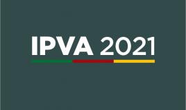 Arte gráfica contendo os dizeres IPVA 2021