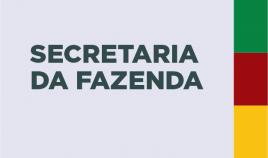 Imagem escrito Secretaria da Fazenda