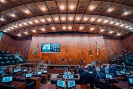 Foto do plenário durante a votação